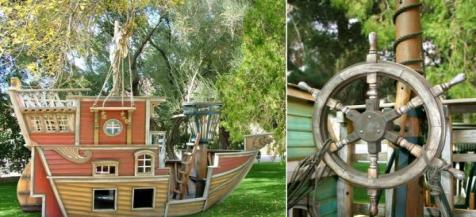 Tự tạo sân chơi trong vườn cho trẻ